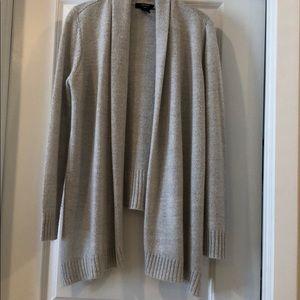 Silver grey hi-low cardigan